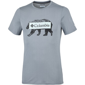 Columbia Box Logo Bear Tee Men Grey Ash